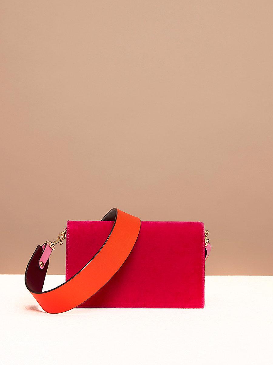 Velvet Soirée Bag in Pink Azalea by DVF