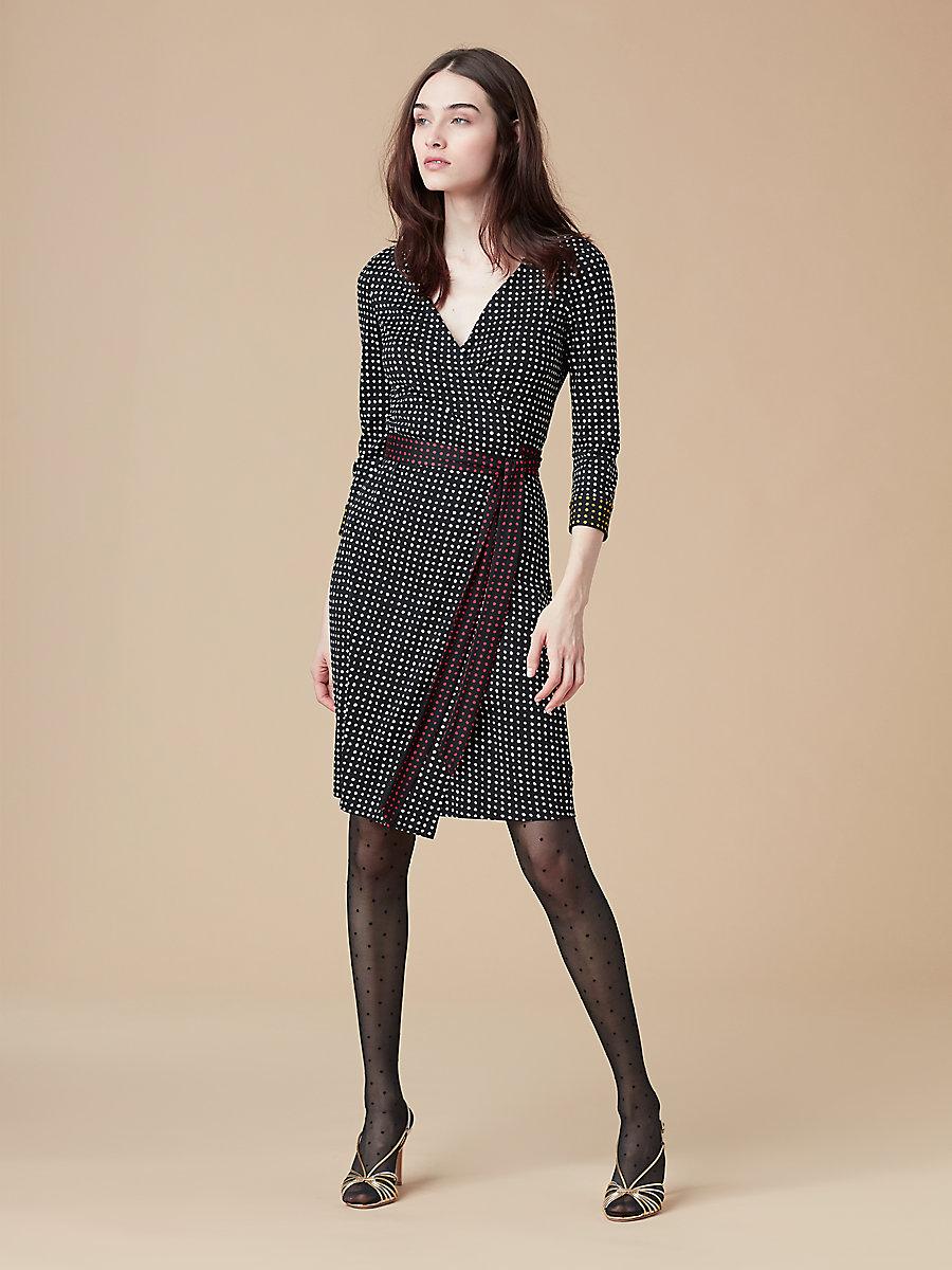 New Julian Wrap Dress in Ferma Black by DVF