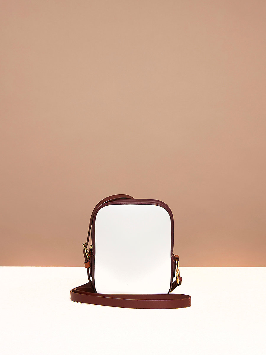 Camera Bag in Ivory/ Bordeaux by DVF