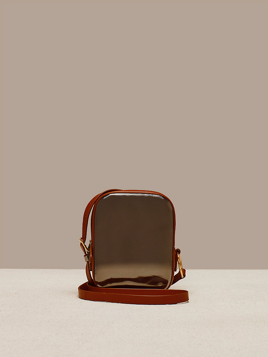 Camera Bag in Anthracite/ Kola by DVF