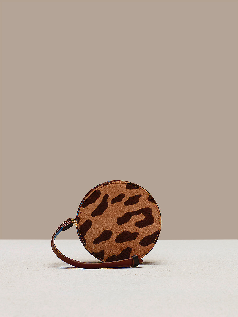 Circle Coin Pouch in Leopard by DVF