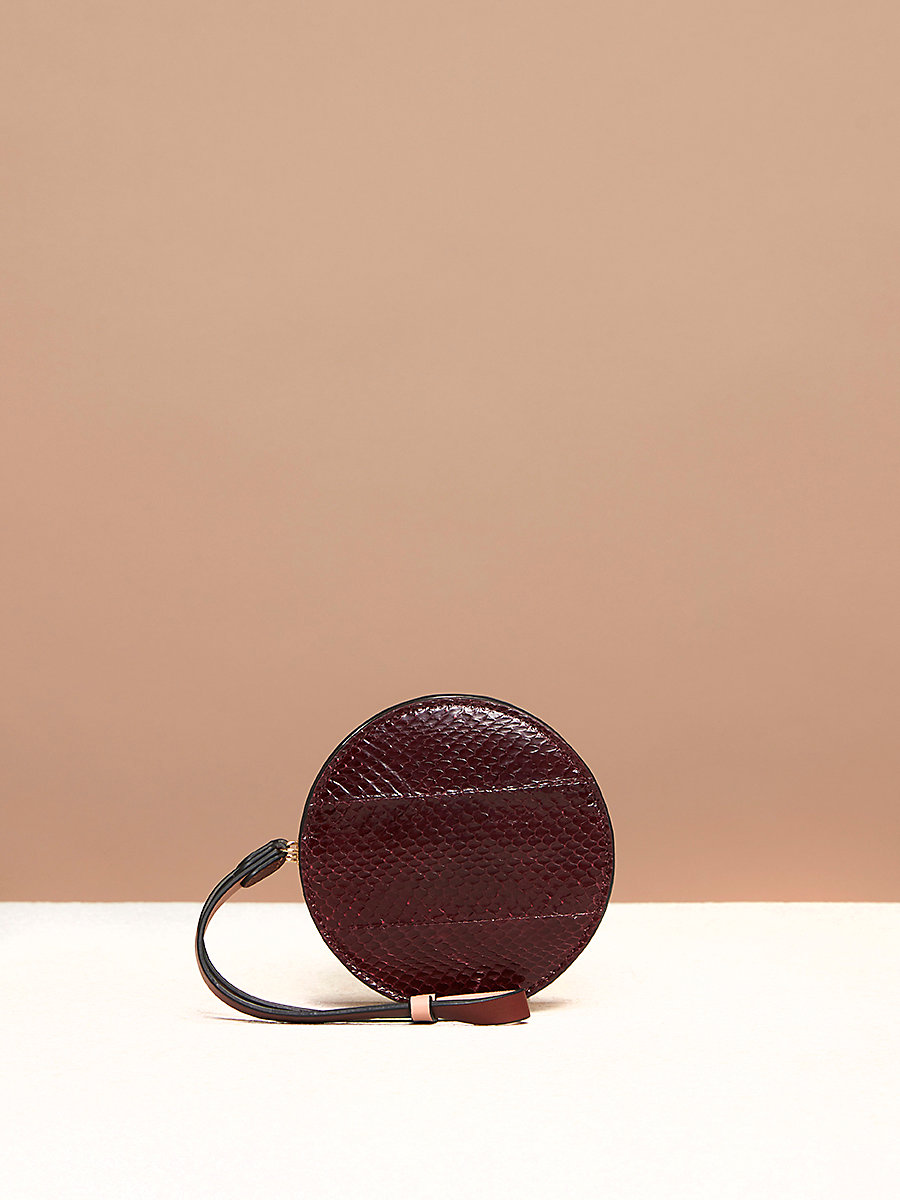 Circle Coin Pouch in Bordeaux by DVF