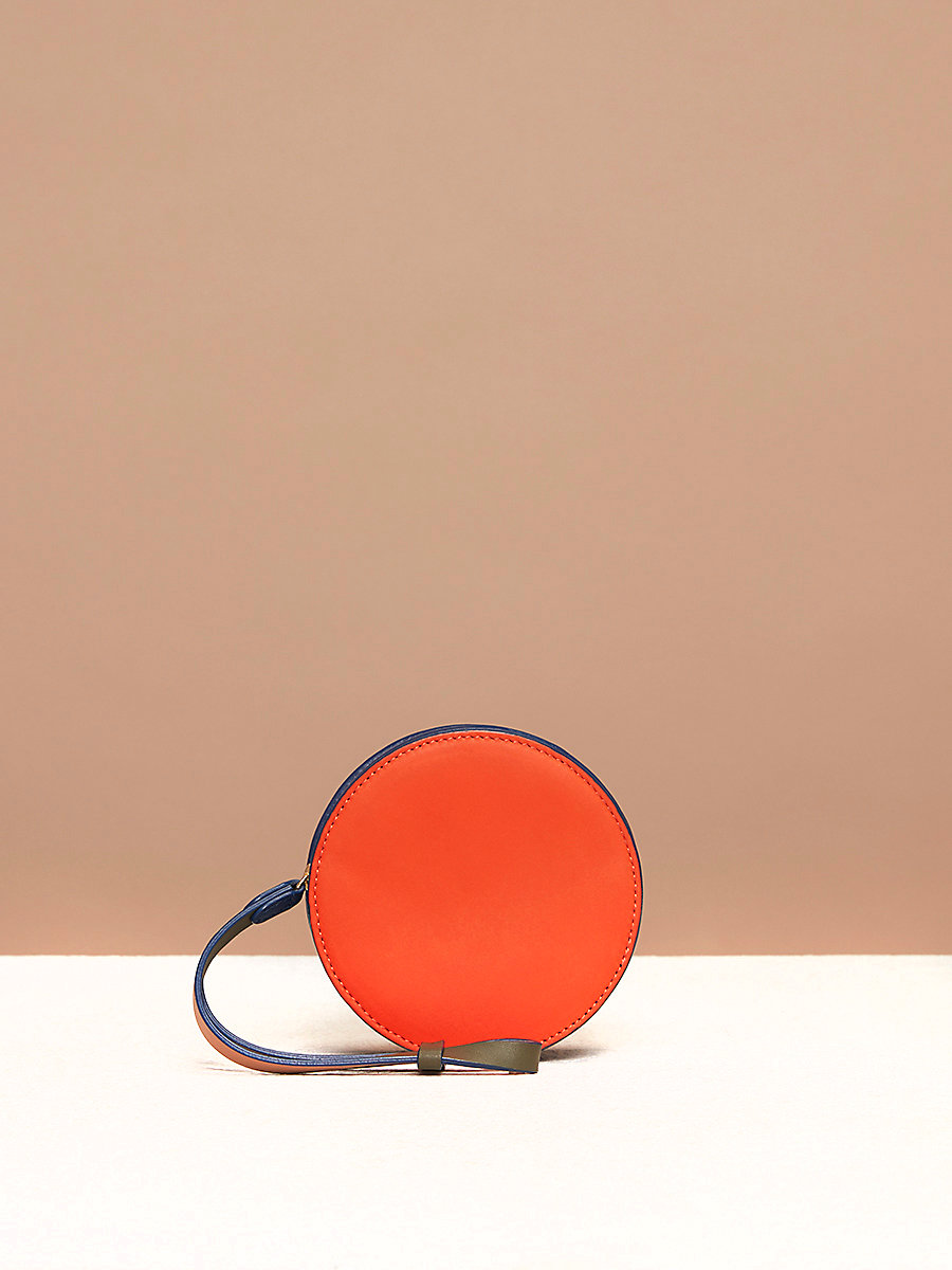 Circle Coin Pouch in Orange by DVF