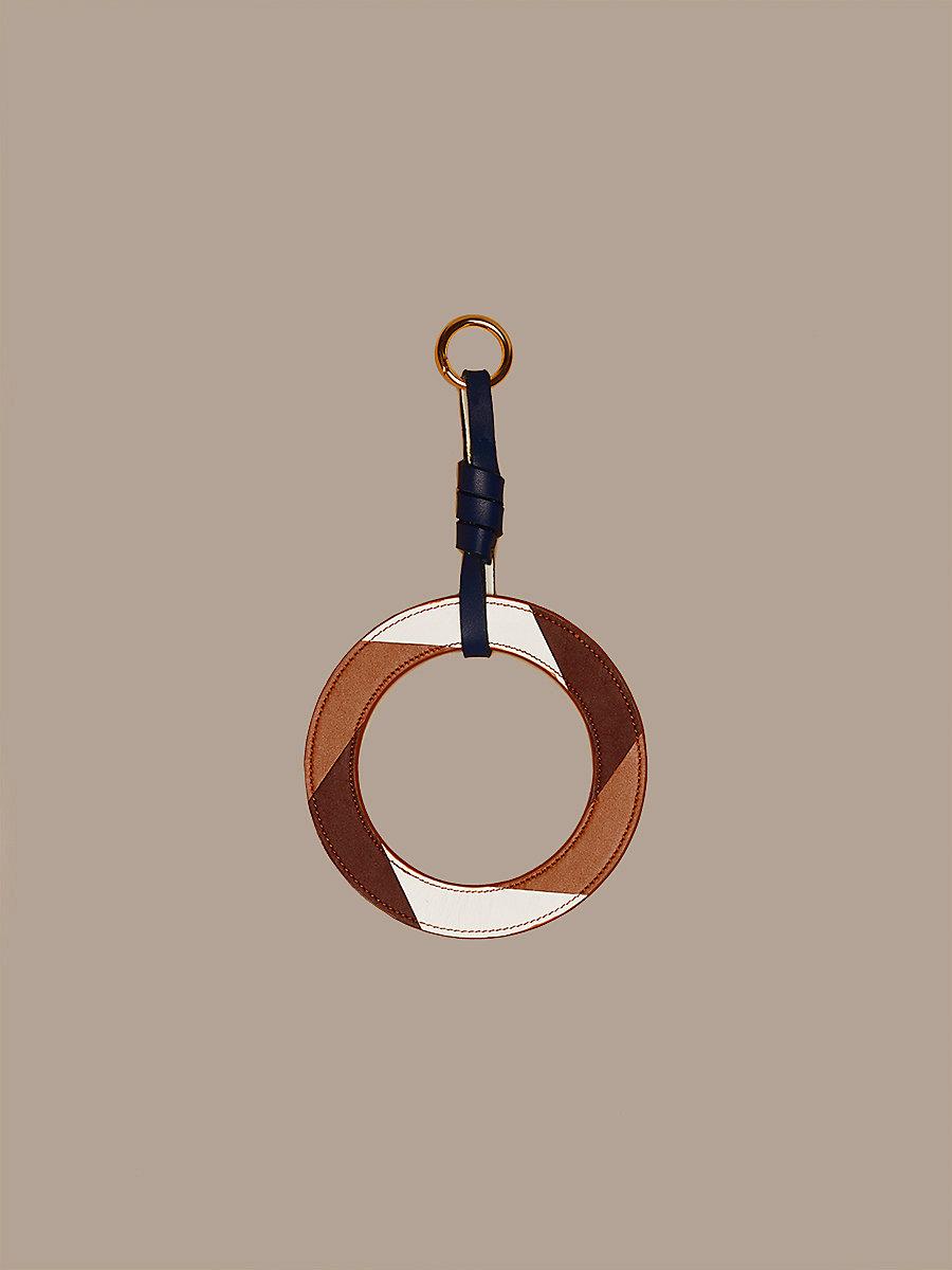 Circle Charm Large in Bordeaux/ Ivory/ Kola by DVF