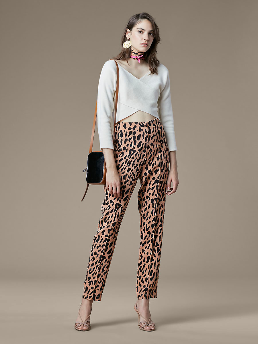 High Waisted Skinny Pant in Belmont Camel by DVF