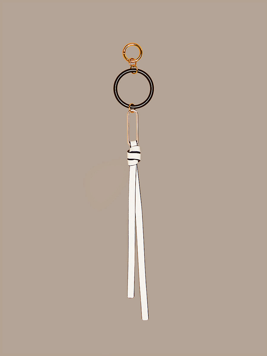 Multi-Ring Charm in Ivory/ Midnight/ Black by DVF
