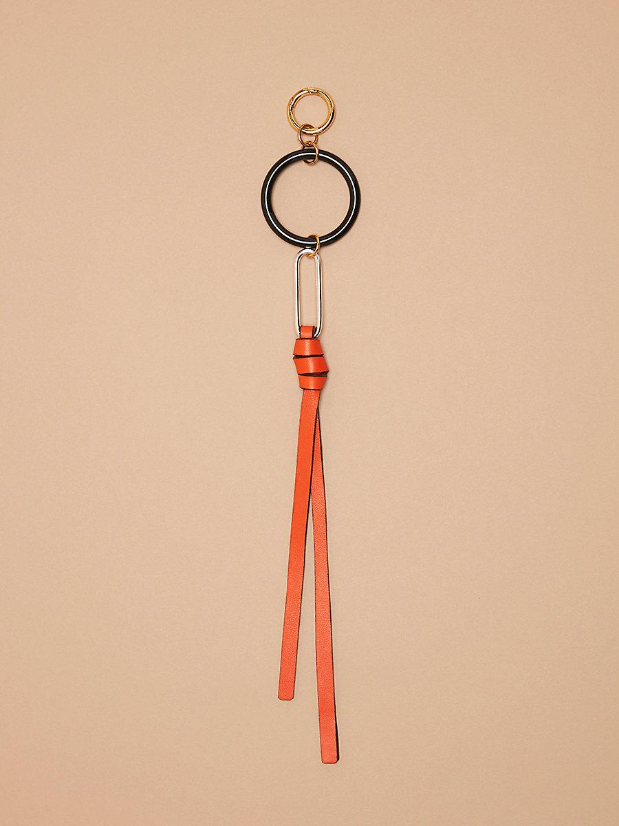 Multi-Ring Charm in Orange/ Black by DVF