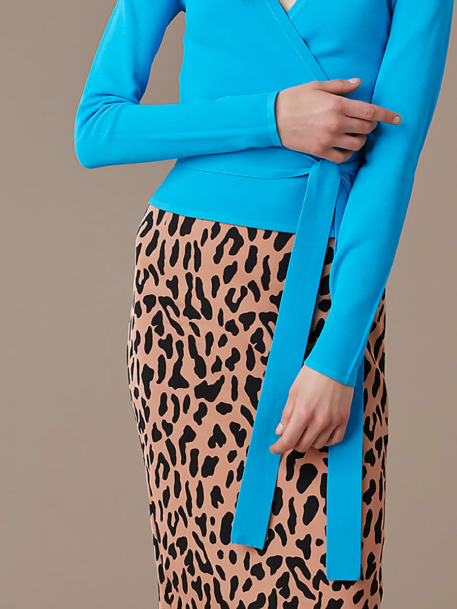 Tailored Midi Pencil Skirt in Belmont Camel by DVF