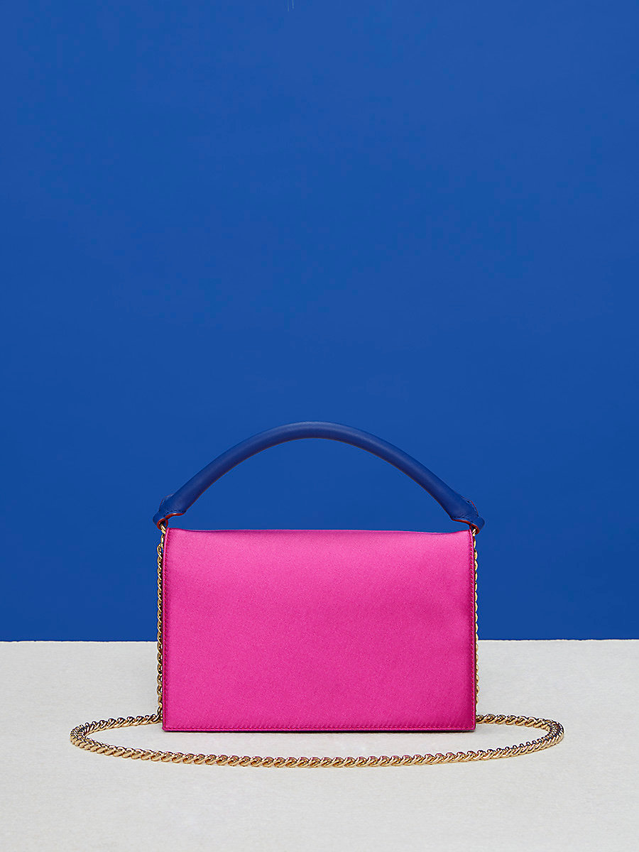 Satin Bonne Soirée Bag in Ribbon Pink Multi by DVF