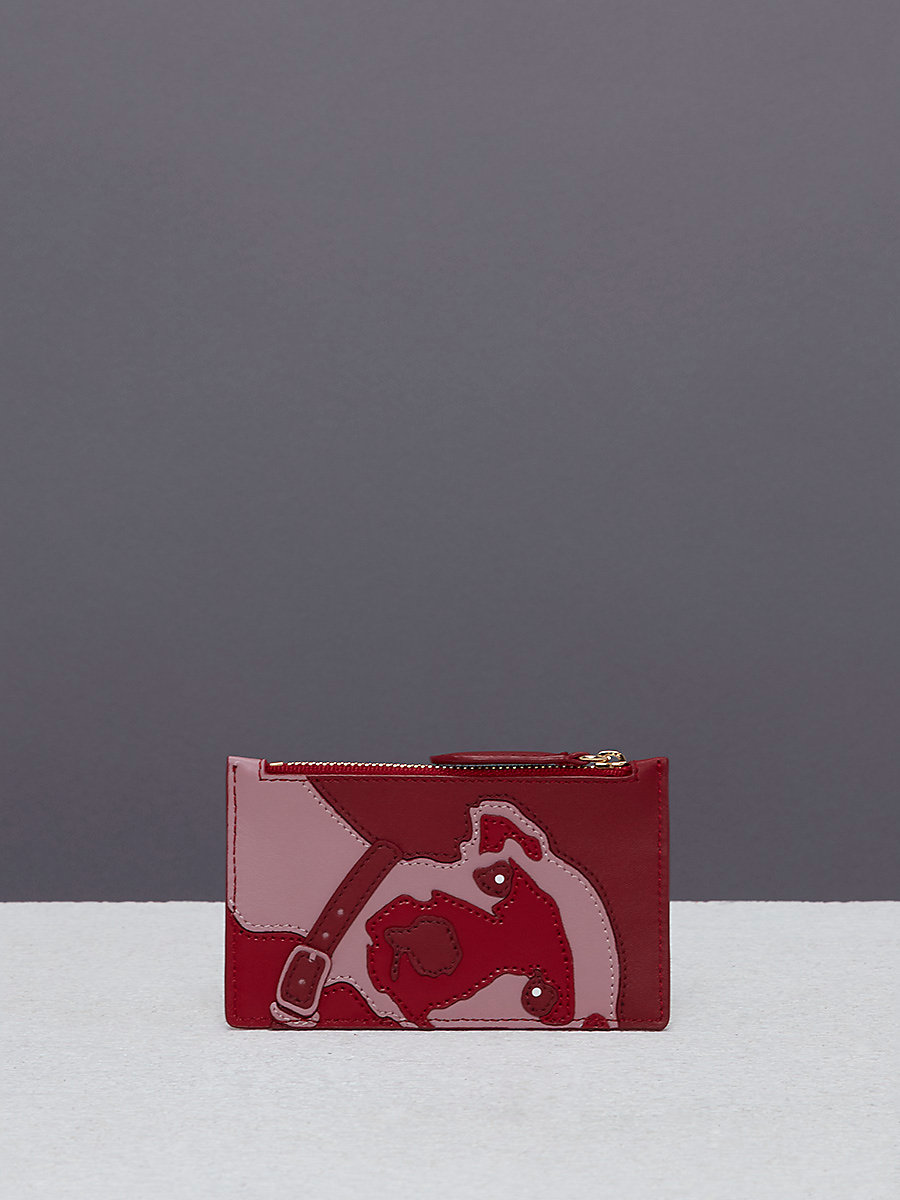 Zip Top Card Case in Deep Fig by DVF