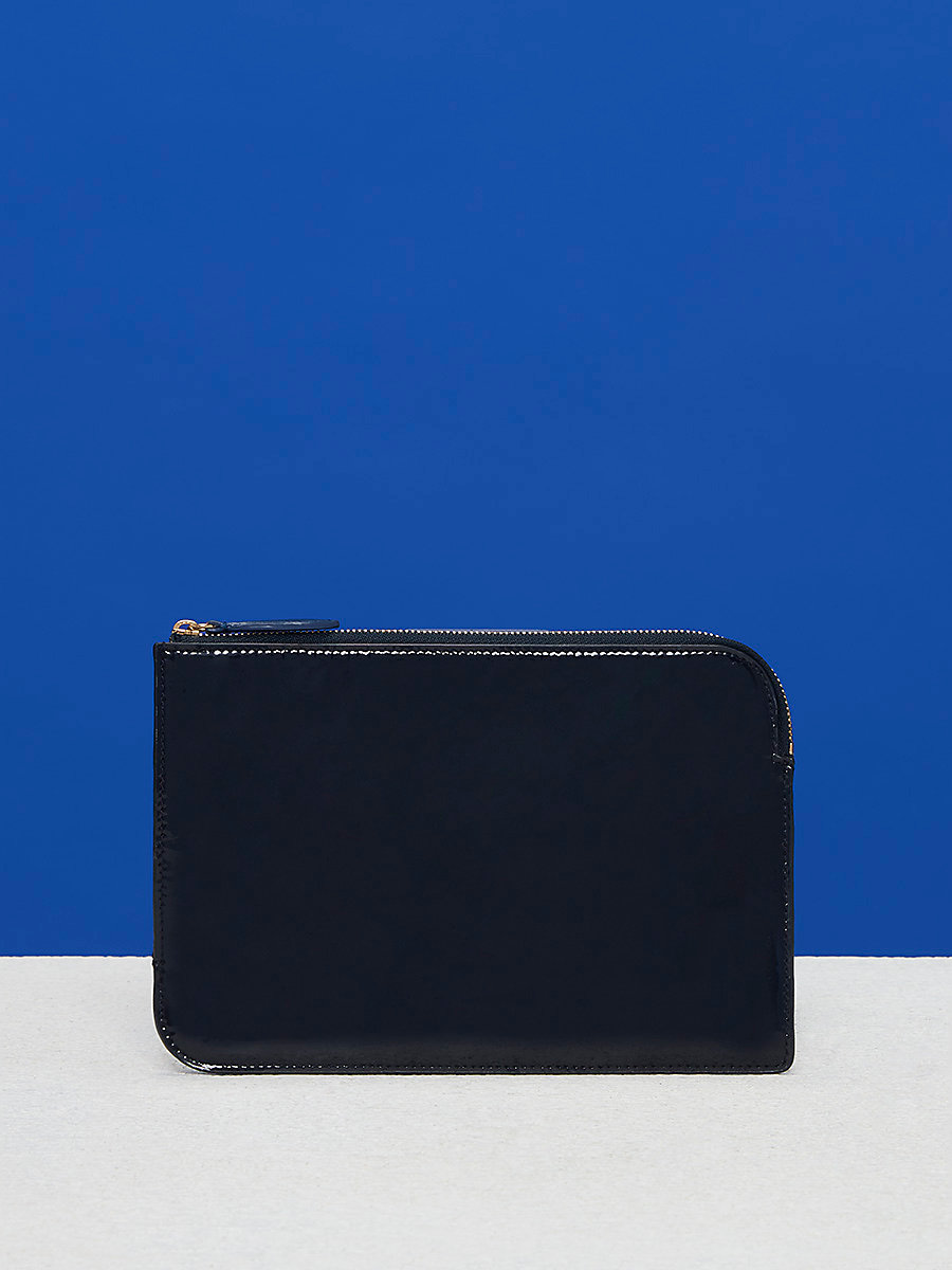 Medium Zip Pouch in Alexander Navy by DVF