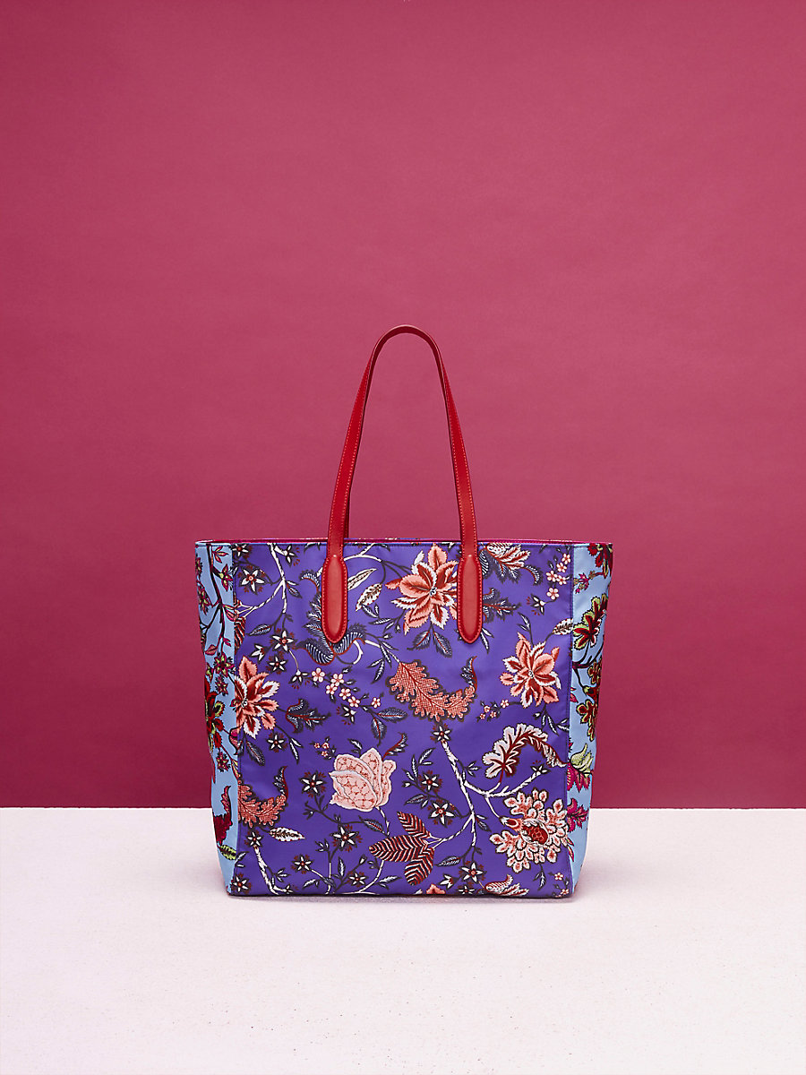 Nylon Tote in Canton Electric Blue/ Notebook by DVF