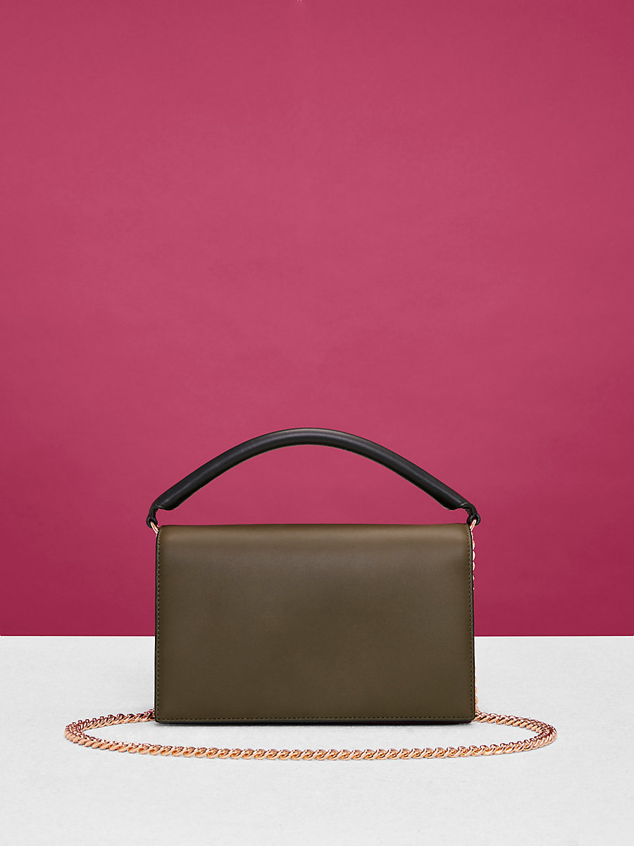 Bonne Soirée Bag in Wellington/ Ash/ Black by DVF