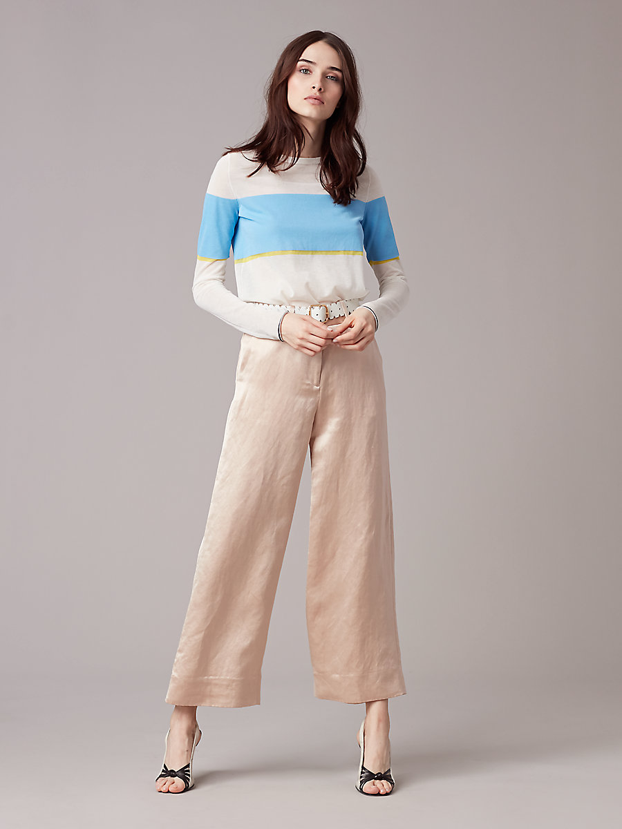 High-Waisted Culotte in Frappe by DVF