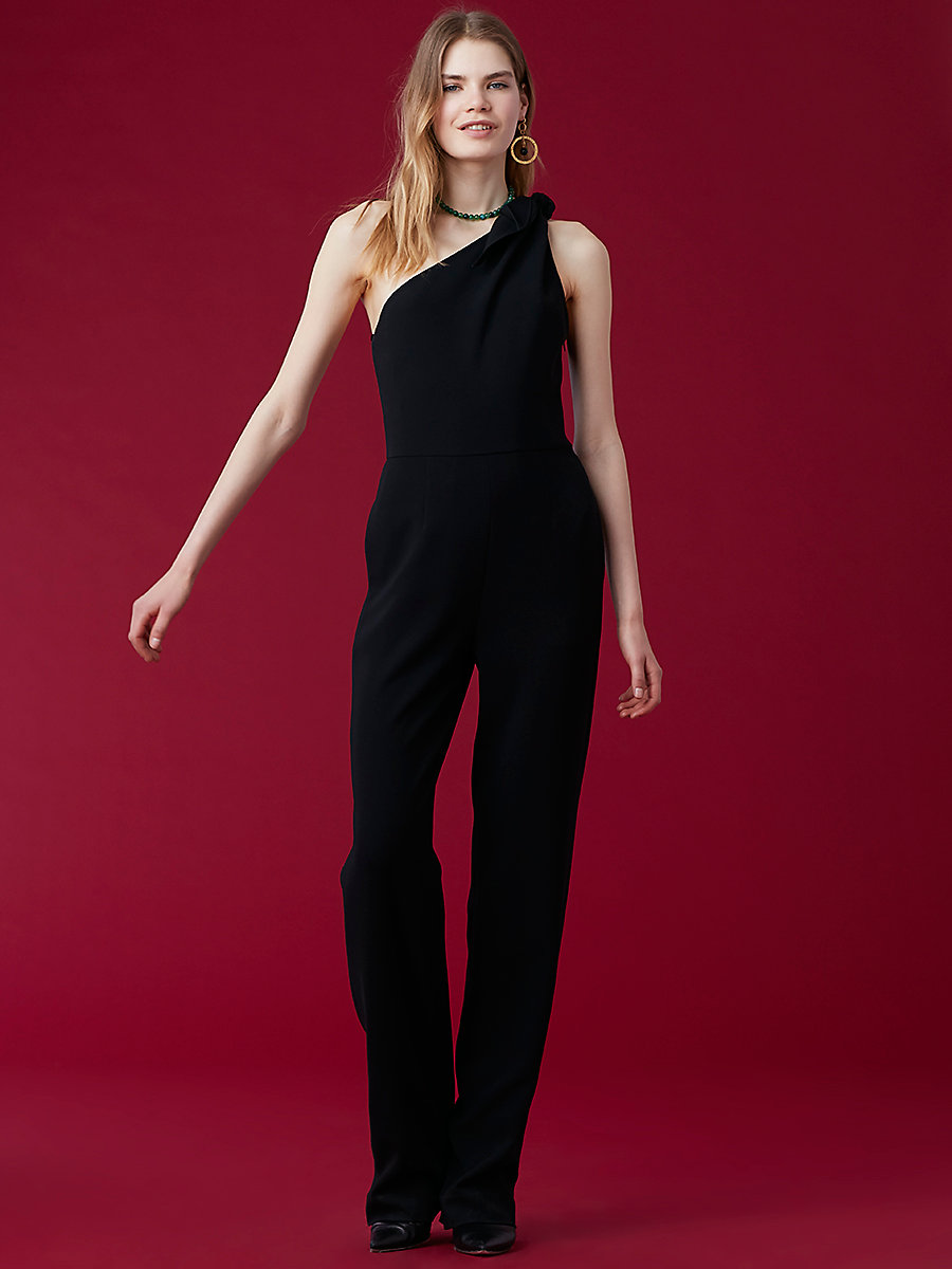 One-Shoulder Knot Jumpsuit