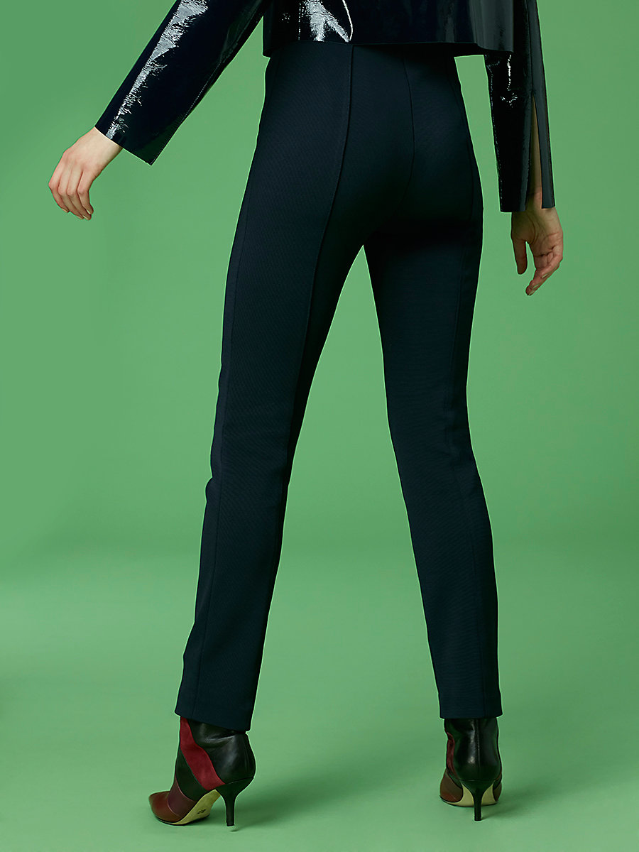High Waisted Skinny Pant in Alexander Navy by DVF