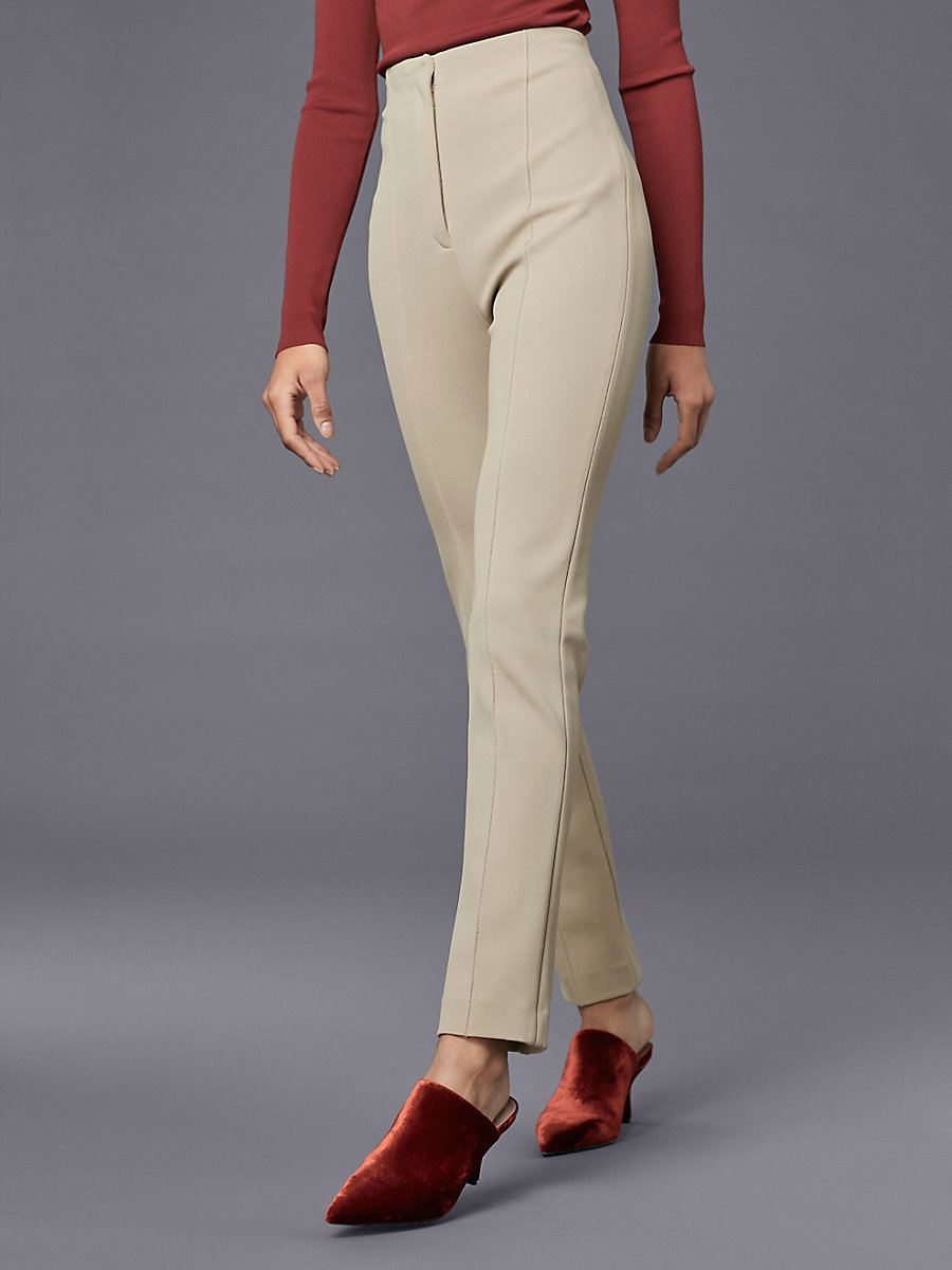 High Waisted Skinny Pant in Dune by DVF