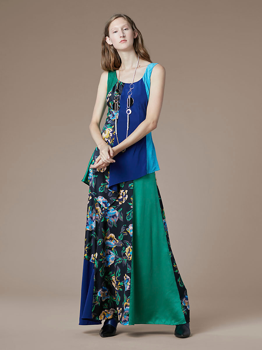 Two Layer Maxi Dress in Benton Combo by DVF