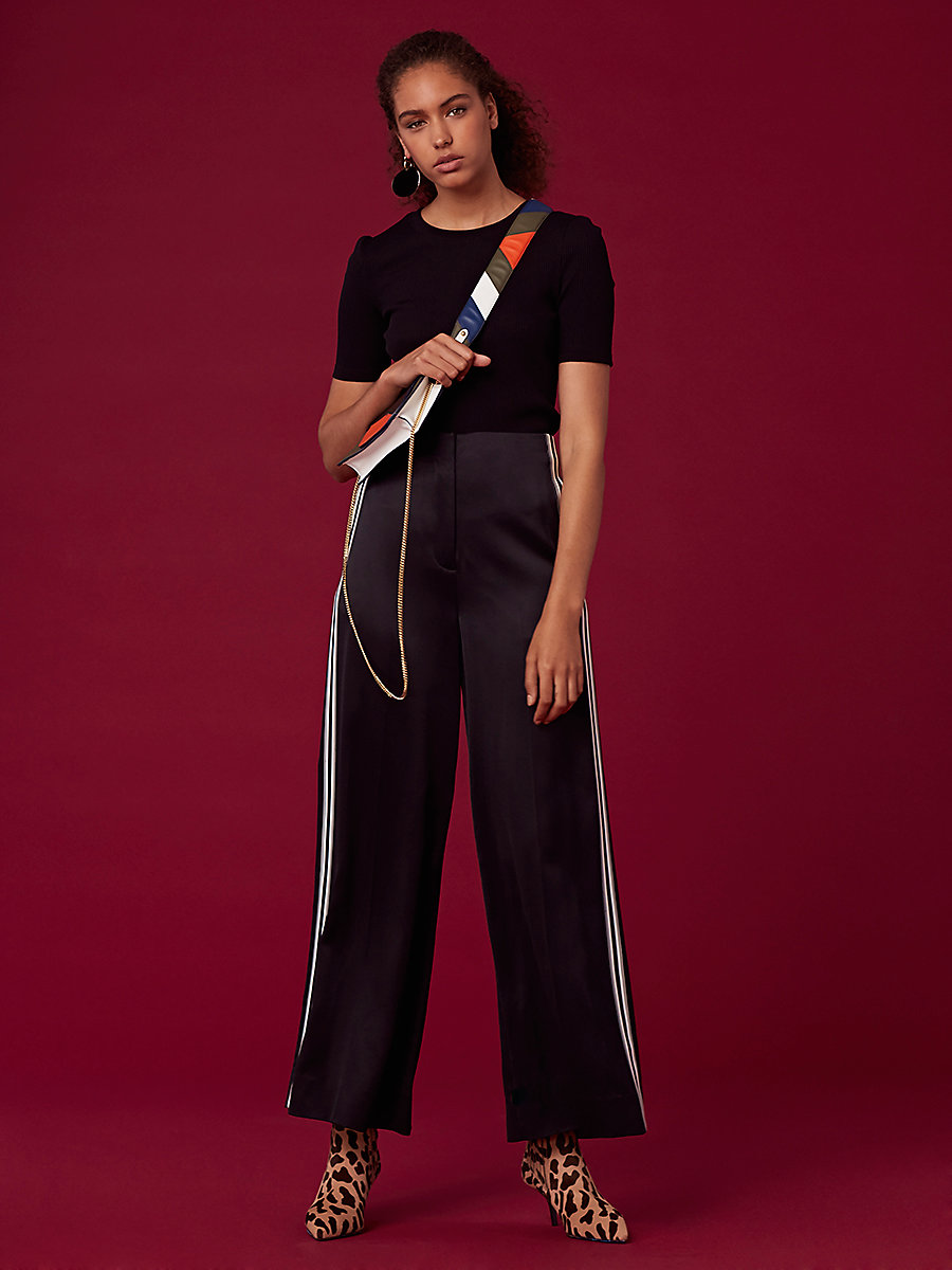Ribbon Pant in Black by DVF