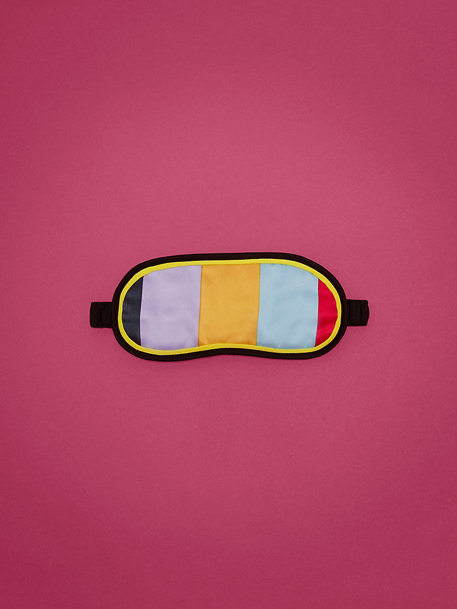 Eye Mask in Carson Stripe Multi Fluro Ylw by DVF