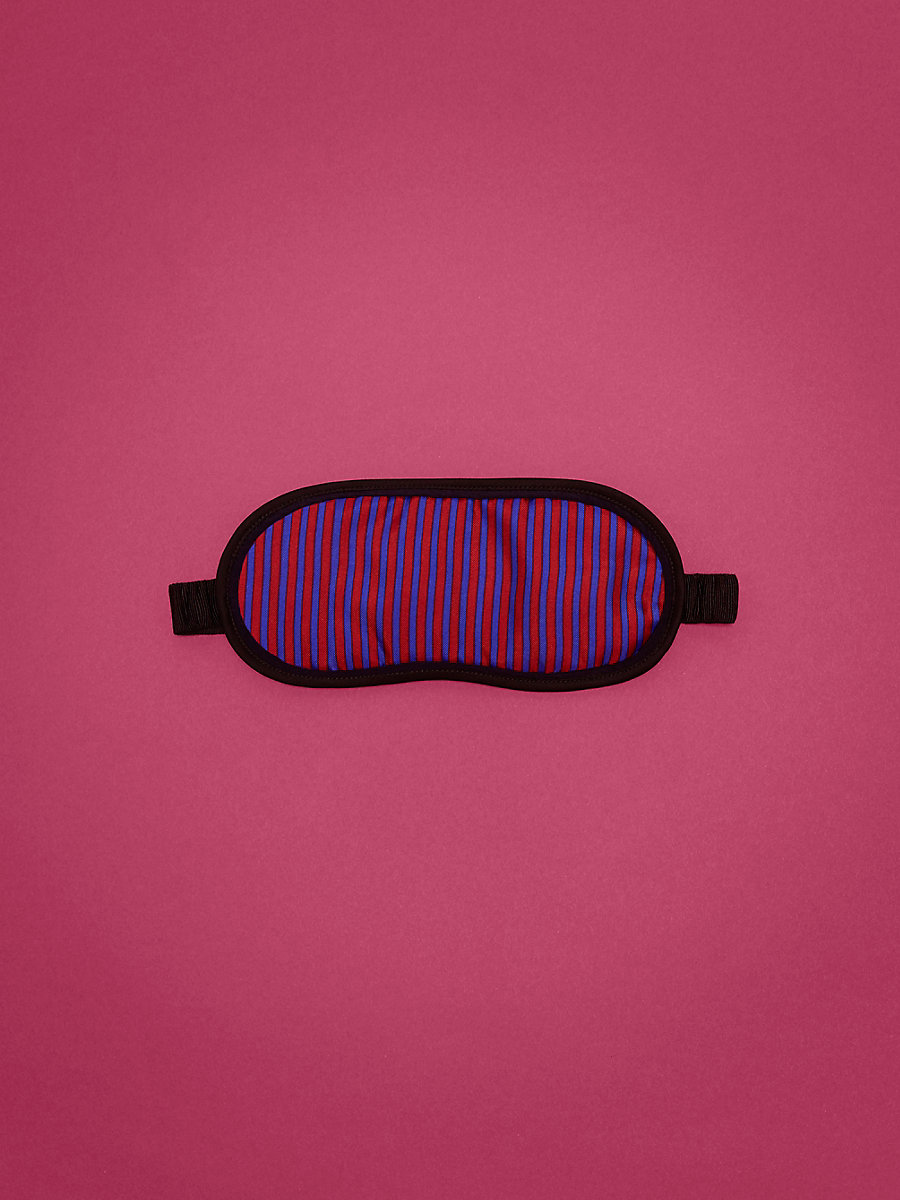 Eye Mask in Electric Blue/ Black/ Sherbet by DVF