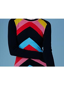 Crew Neck Rainbow Sweater by DVF