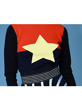 Long-Sleeve Star Sweater by DVF
