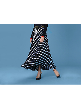 High-Waisted Draped Maxi Skirt by DVF