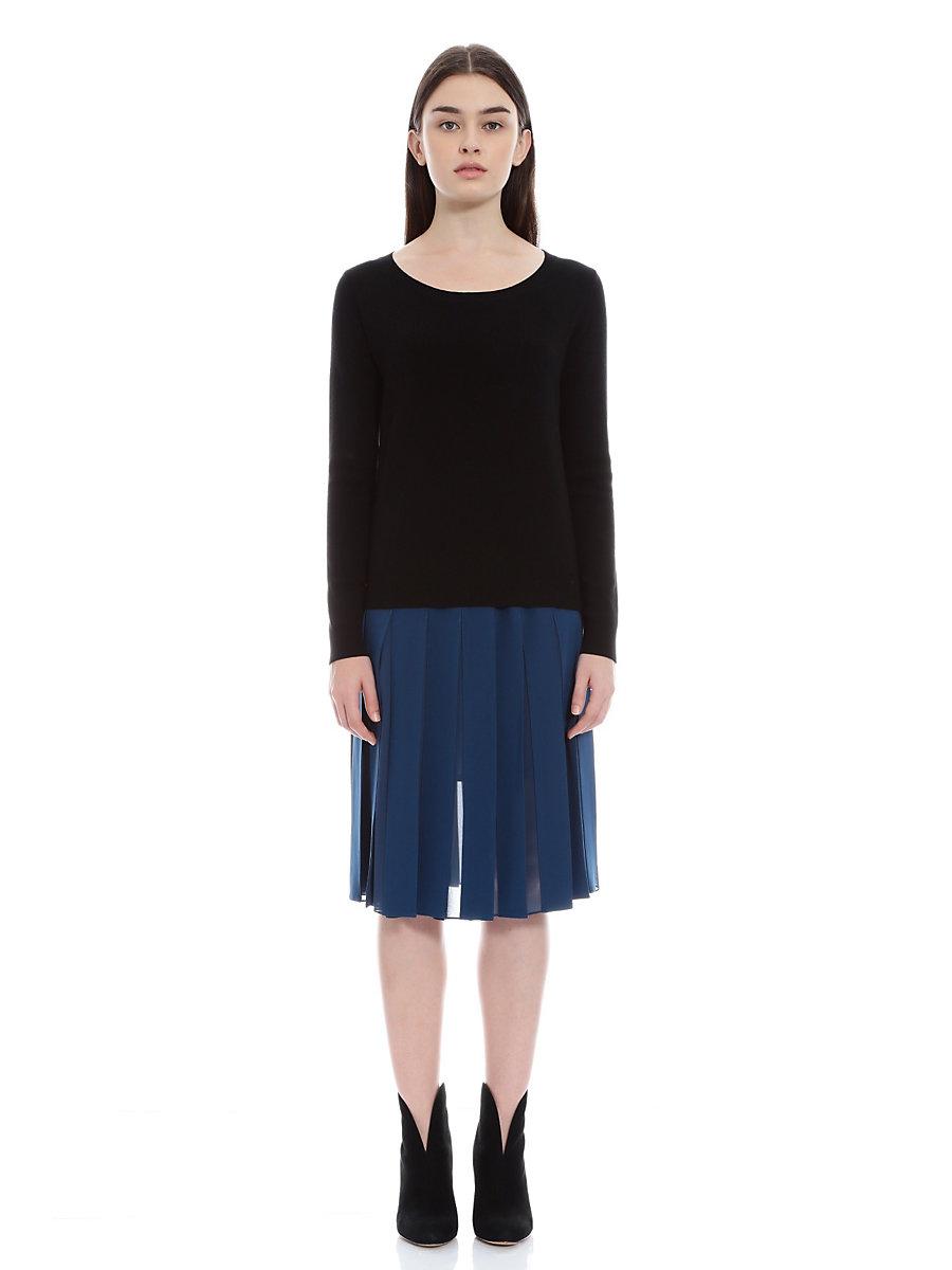 Pleat Skirt in Blue by DVF