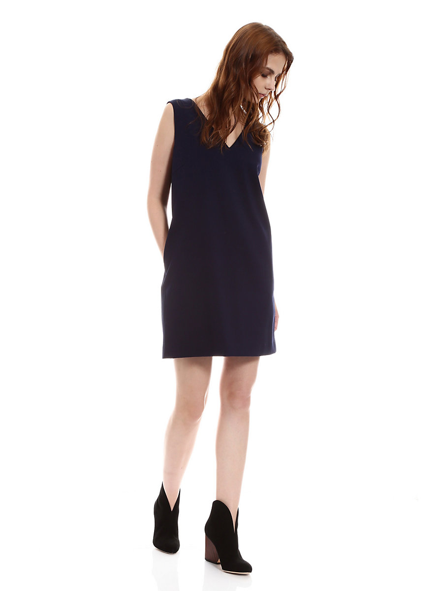 Brenda Dress in Navy by DVF