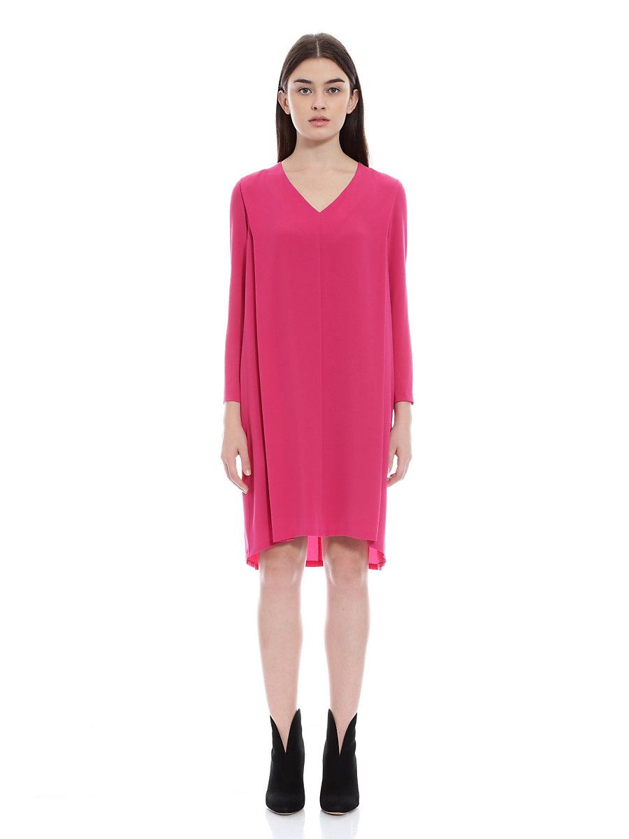 V Neck Dress in Pink by DVF