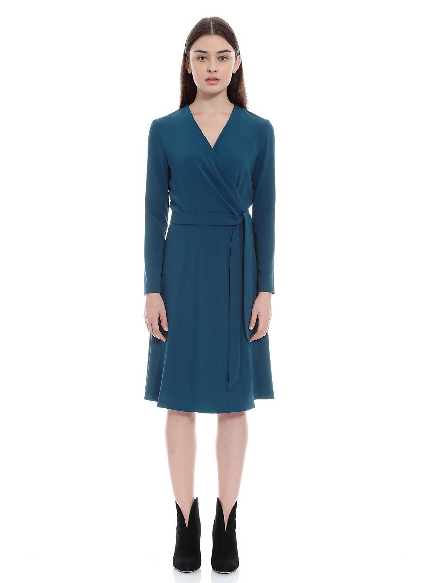 Jersey Wrap Dress in Blue by DVF