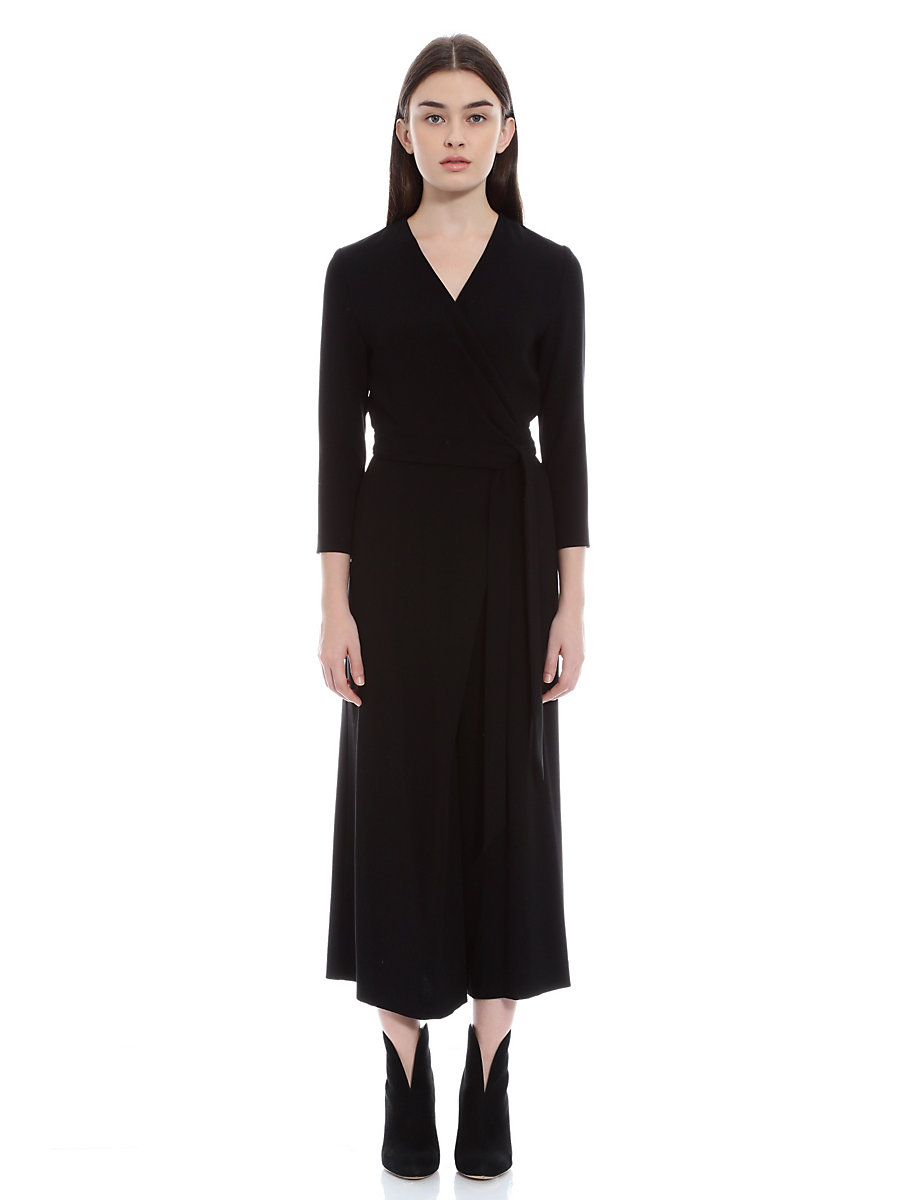 Jersey Jumpsuits in Black by DVF