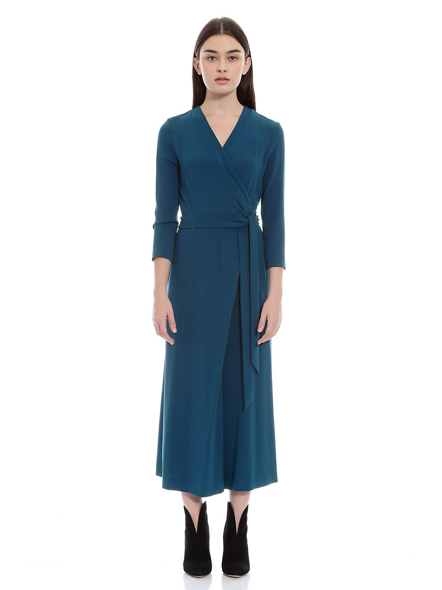 Jersey Jumpsuits in Blue by DVF
