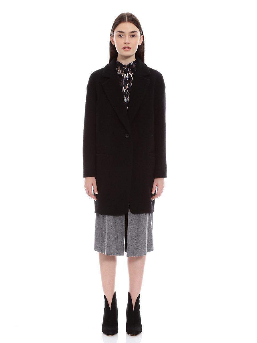 Chester Coat in Black by DVF