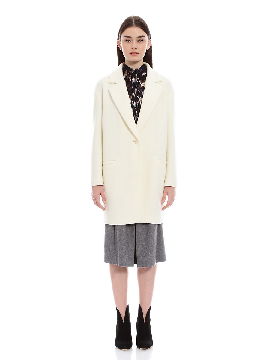 Chester Coat in White by DVF