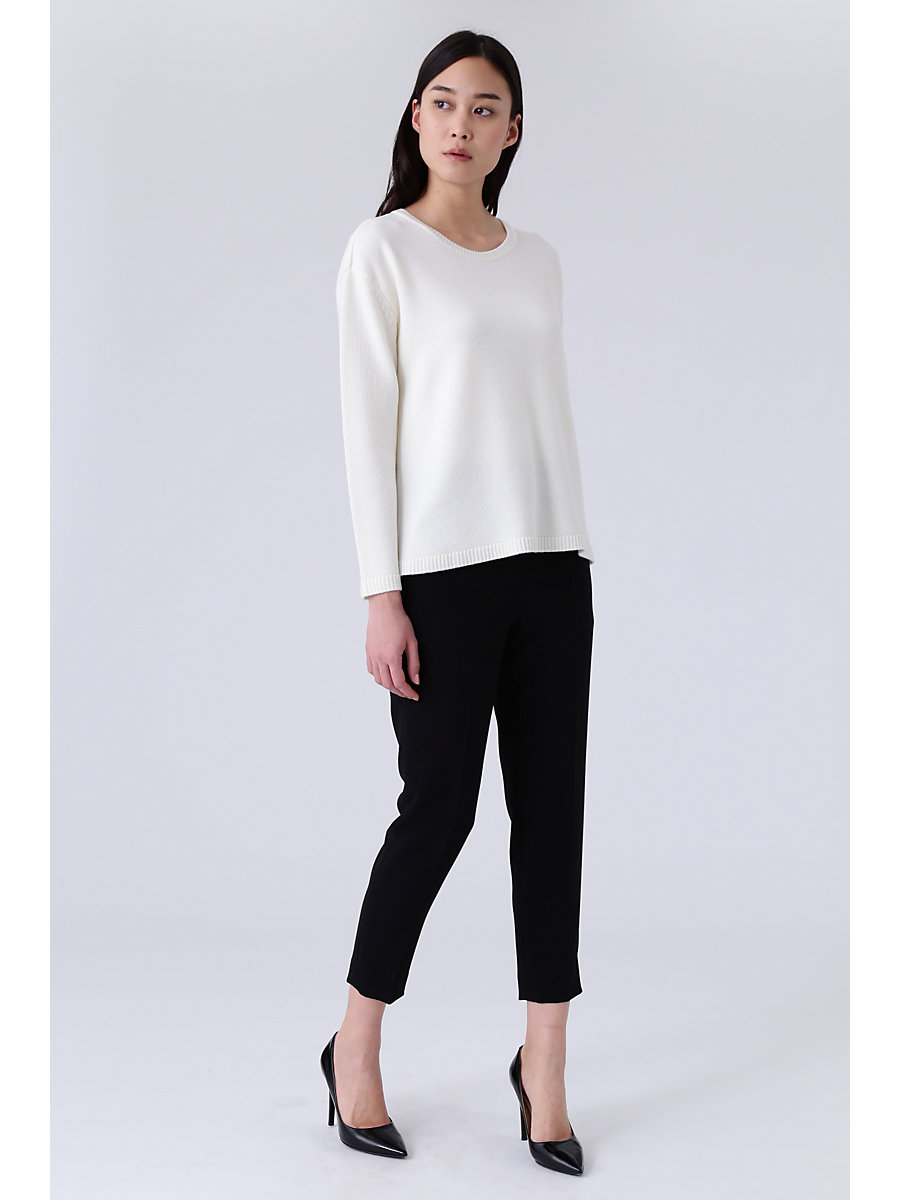 Crewneck Knit in White by DVF