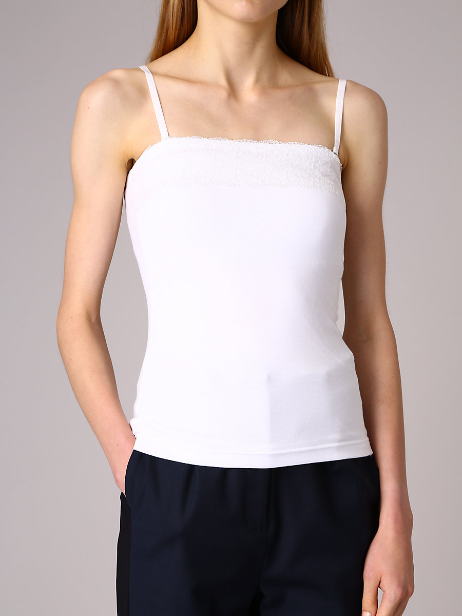 Camisole Inner in White by DVF