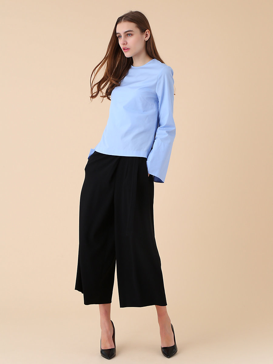 Crew Neck Blouse in Blue by DVF