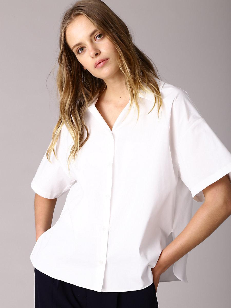 Stripe Shirt in White by DVF