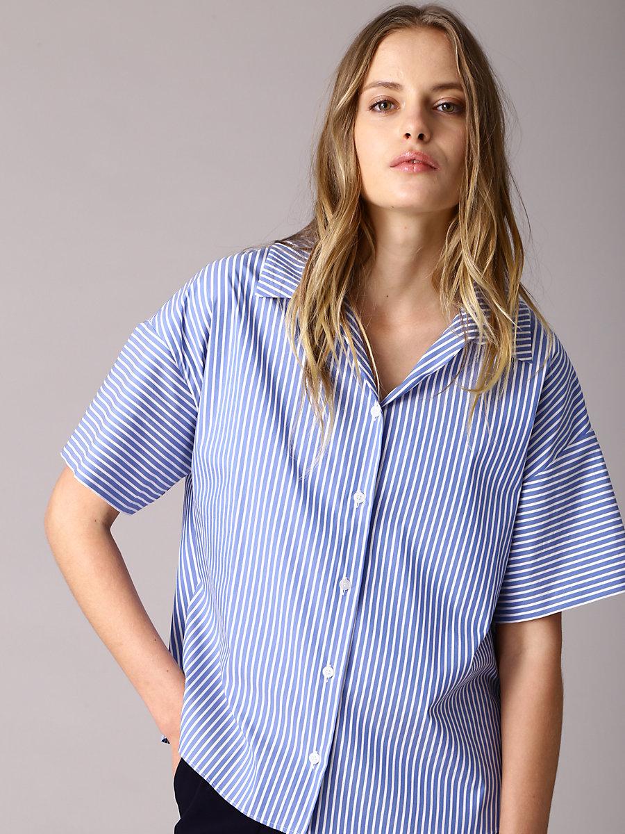Stripe Shirt in Blue by DVF