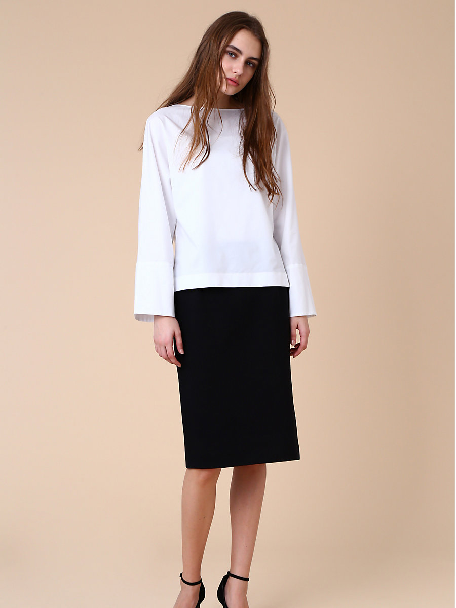 Tight Skirt in Black by DVF