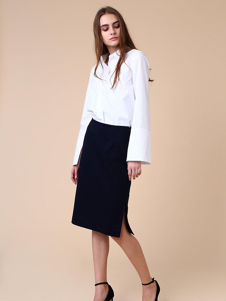 Tight Skirt in Navy by DVF