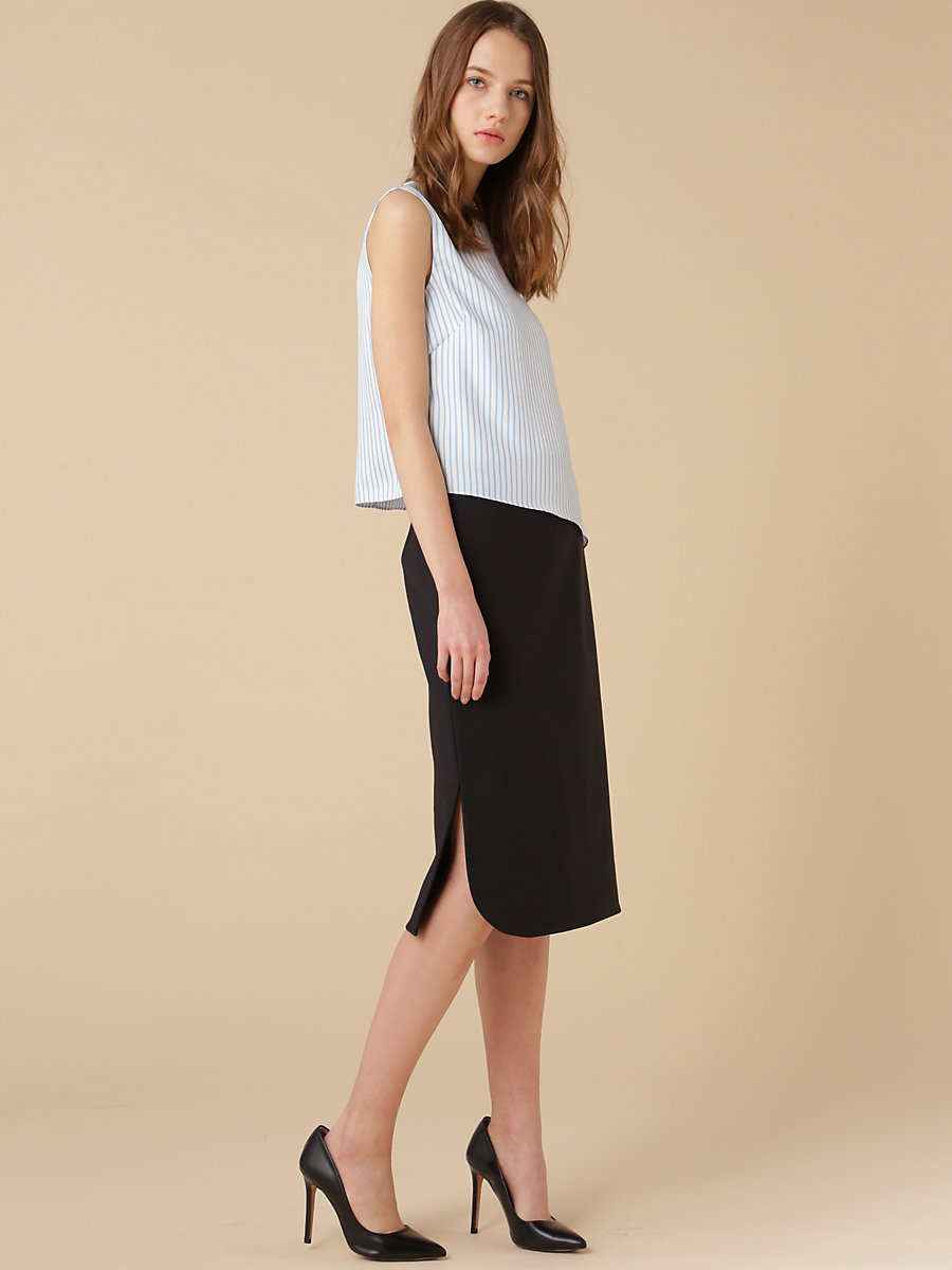 Taylored Tight Skirt in Black by DVF