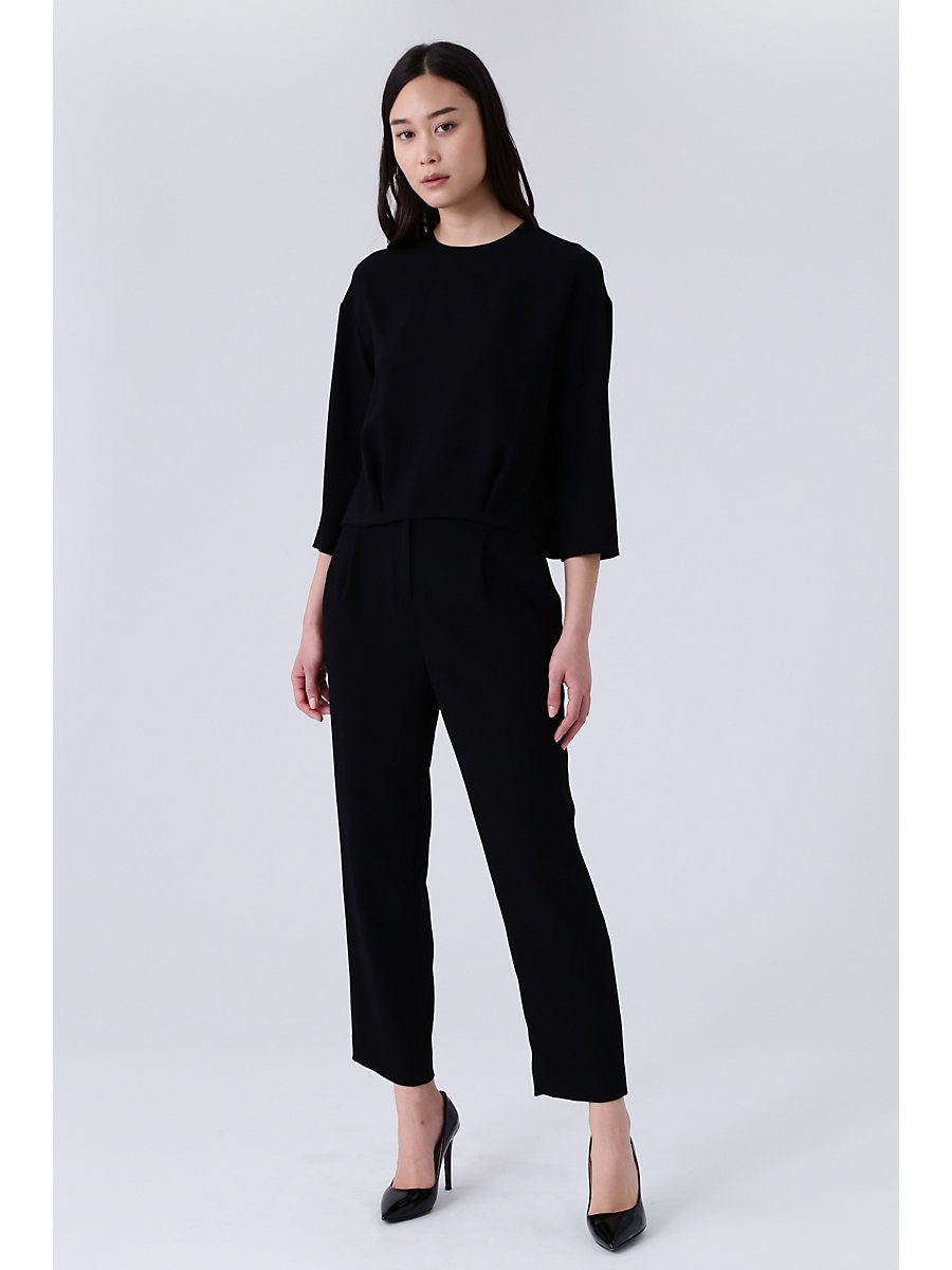Tapered Pants in Black by DVF