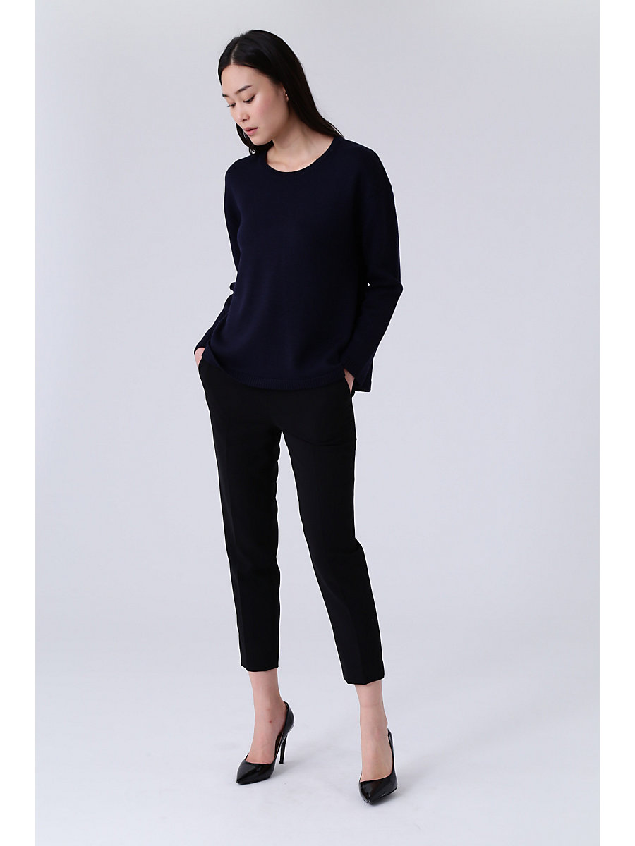 Tapered Stretch Pants in Black by DVF