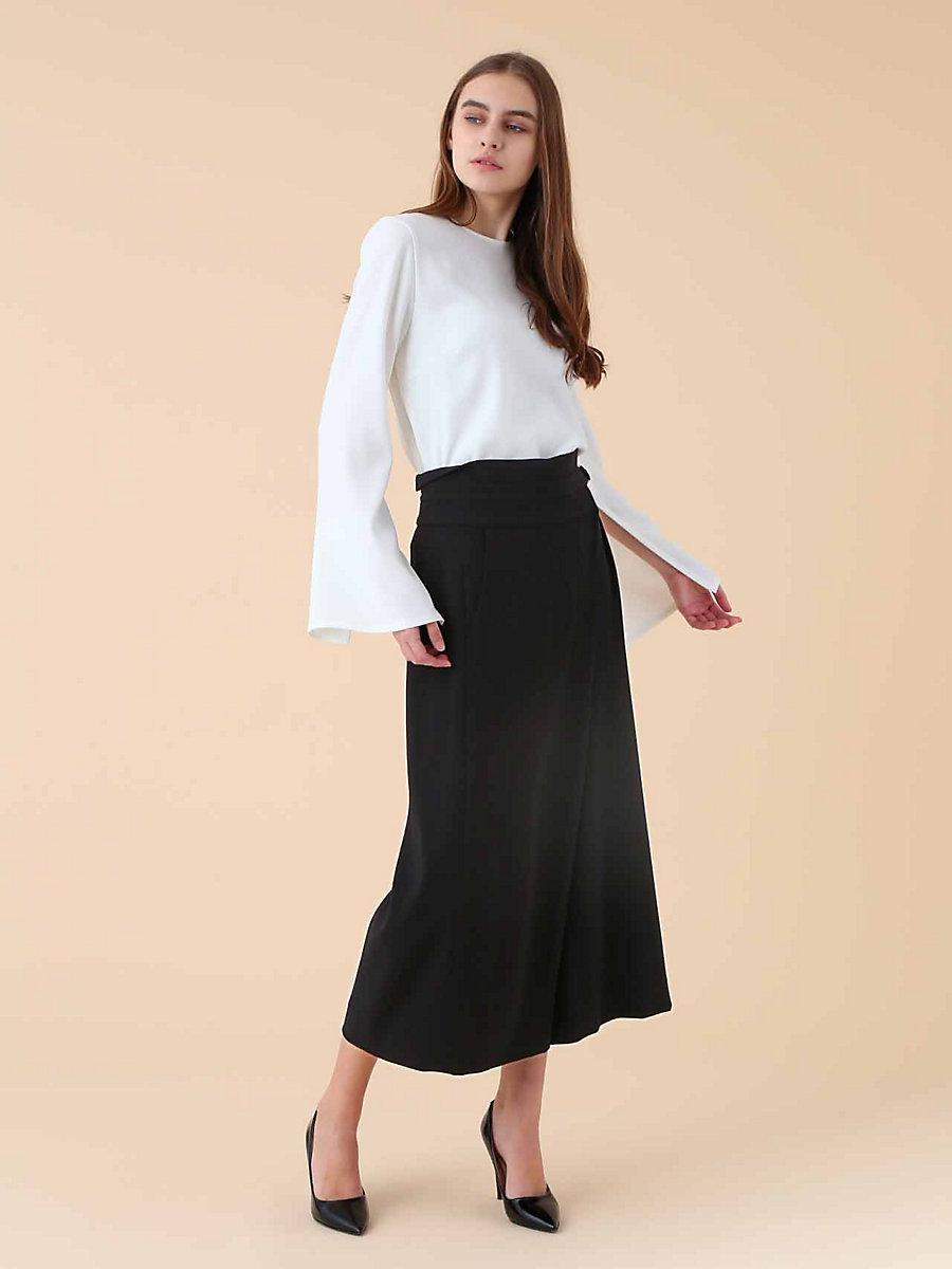 Wide Pants in Black by DVF