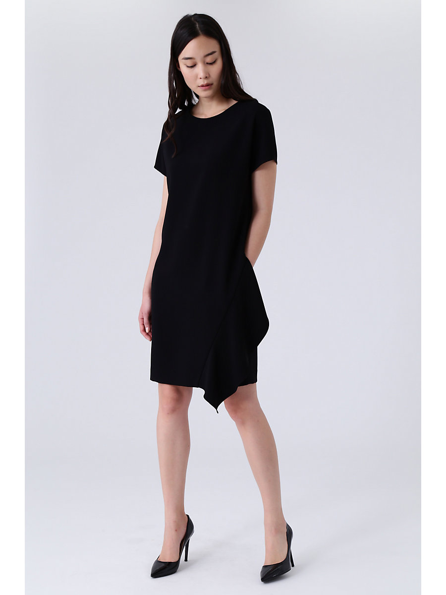 Drape Dress in Black by DVF