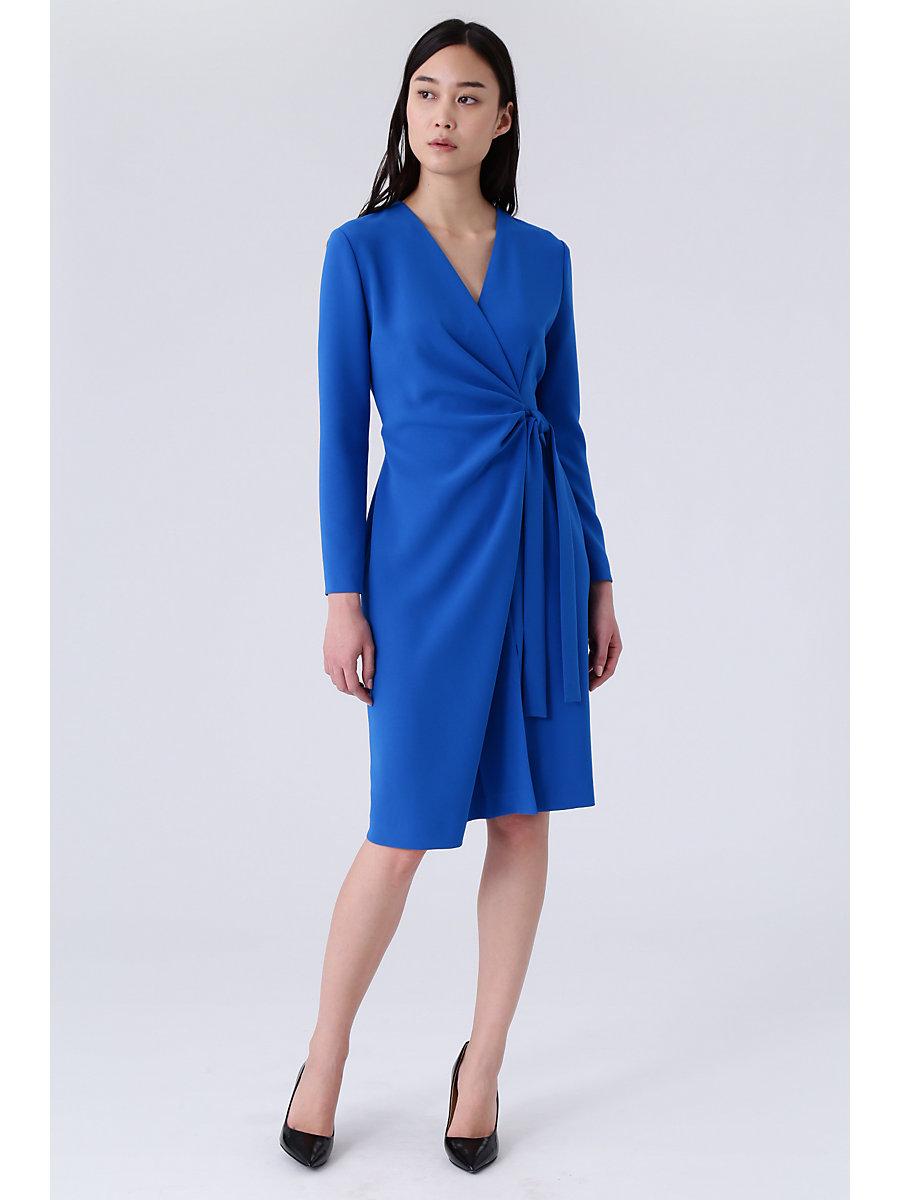 Wrap Dress in Blue by DVF