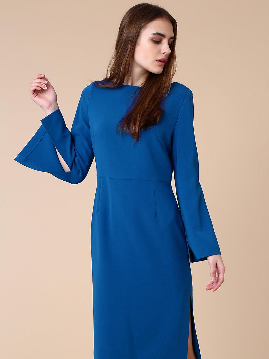 Slit Dress in Blue by DVF